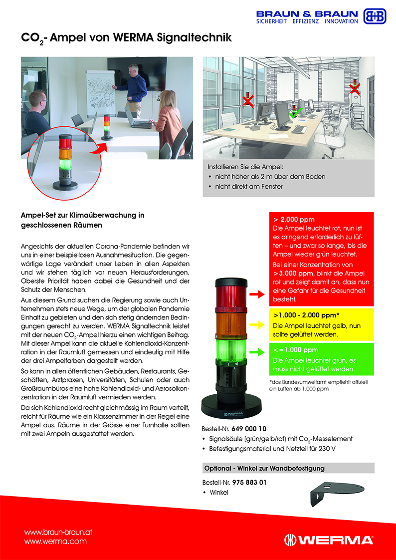 Werma CO2 Ampel Flyer